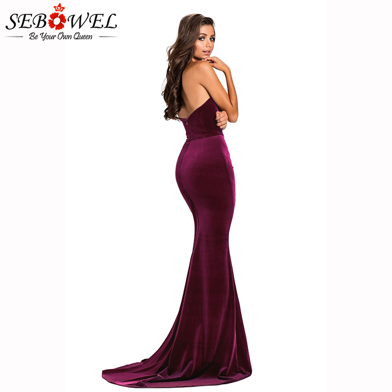 Rosy-Thigh-High-Split-Velvet-Evening-Gown-LC610993-6-2
