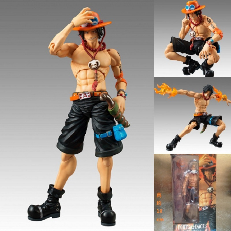 One Piece Portgas D Ace 18cm PVC Action Figure Collection Movable Model Toy Free Shipping фигурка funko pop animation one piece portgas d ace 9 5 см