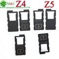 10 pcs originais z5 z4 z3 z3 mini cartão sim para sony xperia z4 z3 z3 + e6883 z5 suporte da bandeja do cartão sim & cartão micro sd leitor Slot