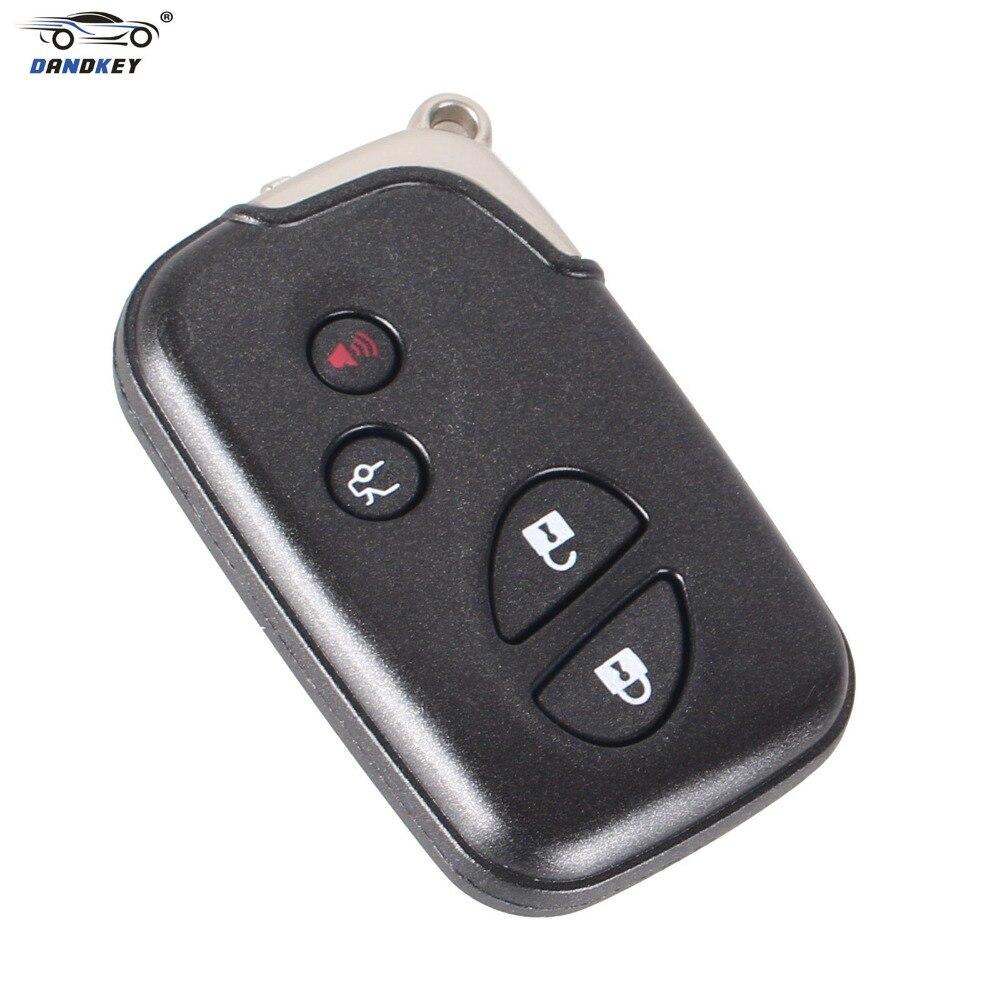 Prix pour DANDKEY Shell De Remplacement 4 Boutons Télécommande Intelligente Clé Fob Cas pour Lexus GS430 ES350 GS350 LX570 IS350 RX350 IS250 Blanc clé + Logo