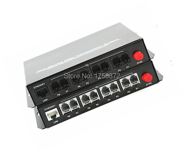 1 Pairs alta Qualidade 8 Canais PCM Voz do Telefone Fibra Óptica Media Converter Com Ethernet FC Único modo de 20Km