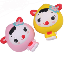 2018 Kawaii Squishy Jumbo Cartoon Girl Slow Rising Squishies  Reduce Pressure Stress Relief Kids Squeeze Toy Gift For Children