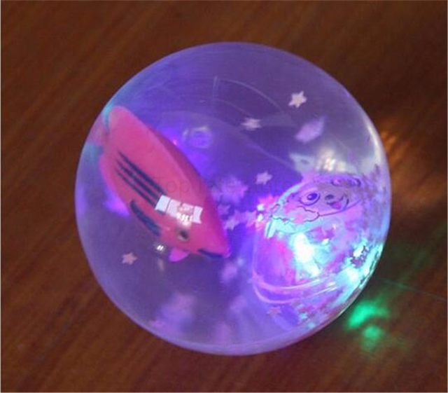 Hot Sale 5 5cm Flashing Light Up High Bouncing Balls Colorful Soft Squeeze  Toy LED Lighting Ball Baby Kids Education Toy