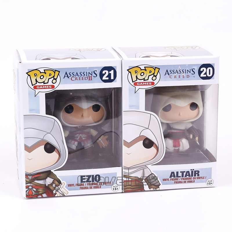 FUNKO POP! Games Assassins Creed ALTAIR #20 / EZIO #21 / CONNOR #22 Vinyl Figure Collectible Model Toy Car Decoration Doll