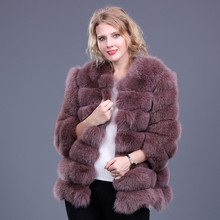 Women Warm Real Fox Fur Coat Short Winter Fur Jacket Abrigo Pelo Mujer Natural Fox Fur Coats For Women Bontjas Womens Fur Coats