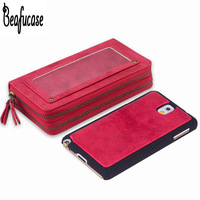 Luxury Leather Case For Samsung Note 3 Cover N9005 Wallet Pouch Bag Case For Samsung Galaxy