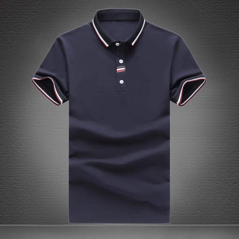 Men short sleeve T-shirt 2019 summer new products men's fashion lapels, slim high-end business leisure comfortable soft T-shirt
