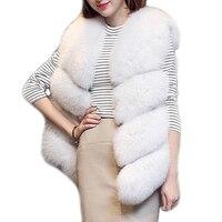 Women Faux Fox Fur Vest Female Winter Autumn Fox Fur Waistcoat Coat Fashion Lady Gilet Artificial Fur Vest for Women LJLS030