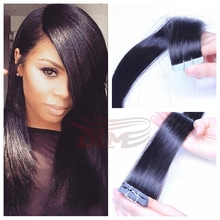 Hot Selling Wholesale Price 10-24inch 2.5g/pc 100g/set 40pcs/set Remy Real Hair Extension Adhesive Tape Human Hair Weaves