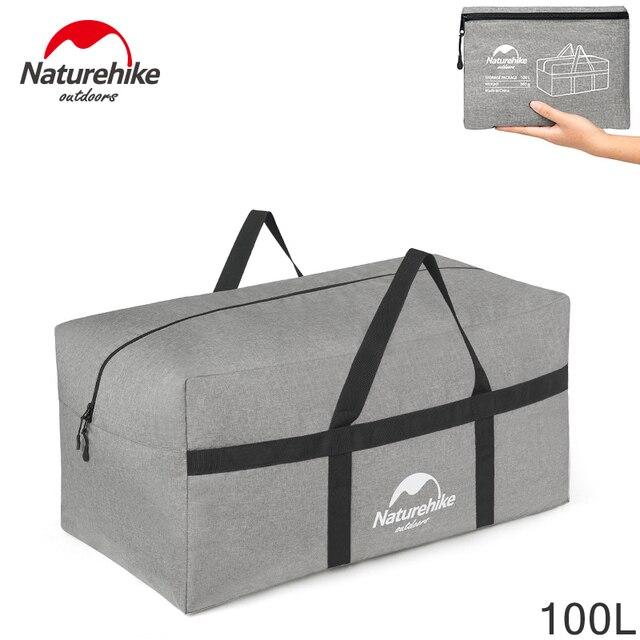 b41c95eb66 100L Naturehike Ultralight Extra Large Duffle Bag Outdoor Durable Bags  Folding Duffel Bag Portable for Men Women Travel Camping