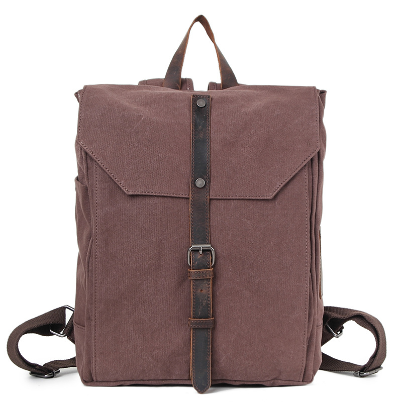 European Design Men Casual Canvas Hasp Rucksack Travel Daypack Vintage College Student School Backpack Bags For Teenagers H033 欧债危机启示录