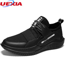 UEXIA Summer Mesh Men Comfort Outdoor Flats Sport Shoes For Men Breathable Men Slip-On Sneakers Zapatillas Hombre Non-Slip Ankle