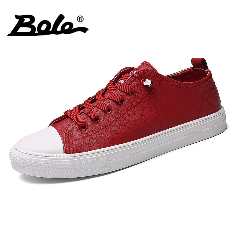 BOLE New Design Men Casual Shoes Fashion Shoes Lace Men Flat Casual Shoes High Comfortable Lace Up Sneakers Men simple smiley face and lace up design men s casual shoes