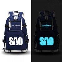 Sword Art Online SAO Luminous School Backpacks Bags Bookbag Shoulder Bag Large Capacity Rucksack Satchel Laptop