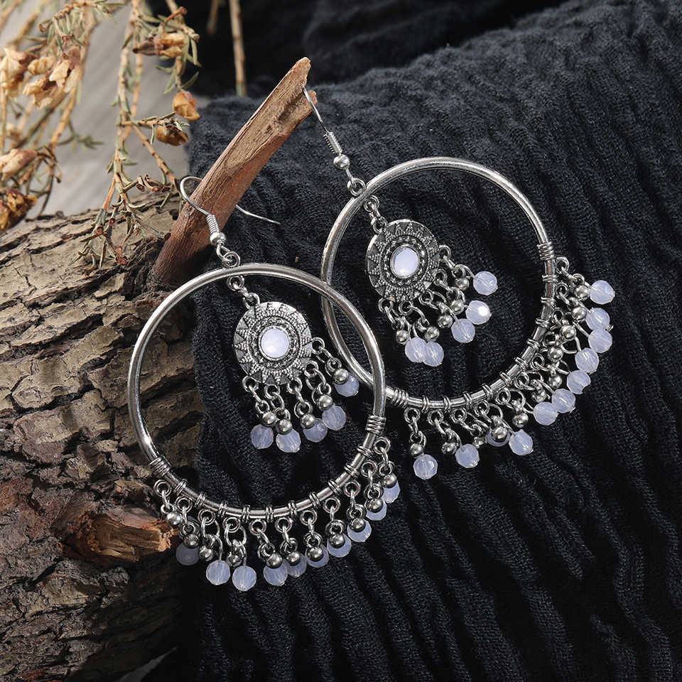 Bohemian Vintage Round Design Bead Earrings Boho Design Jewelry Fashion Woman Earring 2019 Jewelry Accessories