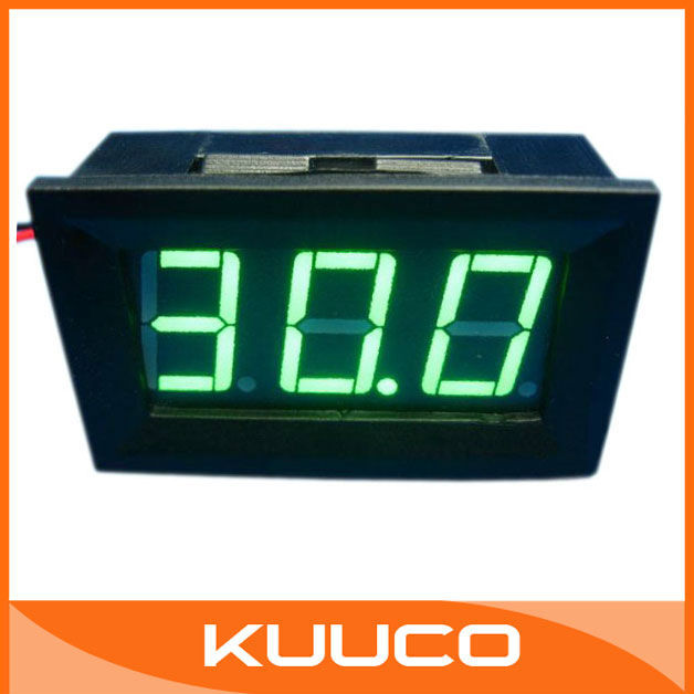 "DC Voltage Test Meter 0.56"" DC 0V~99V Green Digital Voltmeter for Car Motorcycle and DIY ect # 090125"