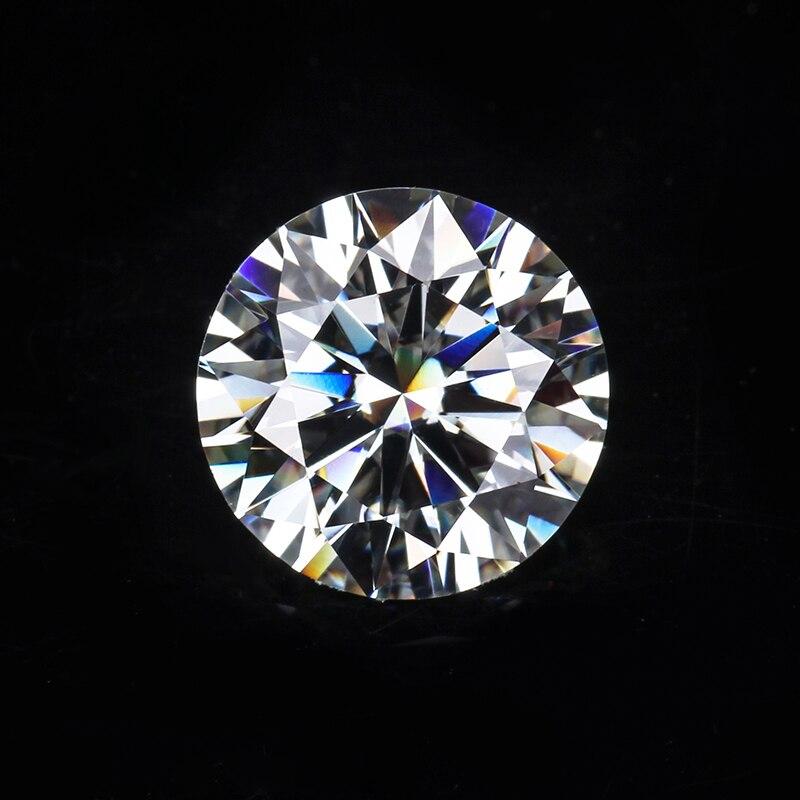 販売ラウンドブリリアントカット 9 ミリメートル IJ 色ラボ作成 Moissanites ためルースストーン婚約指輪  グループ上の ジュエリー & アクセサリー からの ルースダイヤモンド & 宝石 の中 2