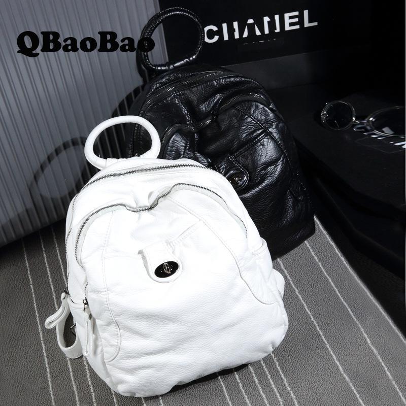 Women Backpack Washing Leather School Bagpack Fashion Korean Female Backpack Teenage Girl Backpack For Women Bag For Lady sunborls brand women big backpack for teenage girl casual back bag schoolbag lady string backpacks female rucksack bagpack