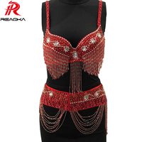 2018 Sexy Women Metal Chain Beading Tassel Summer Dress 2 Two Piece Sequins Shiny Crystal Diamond