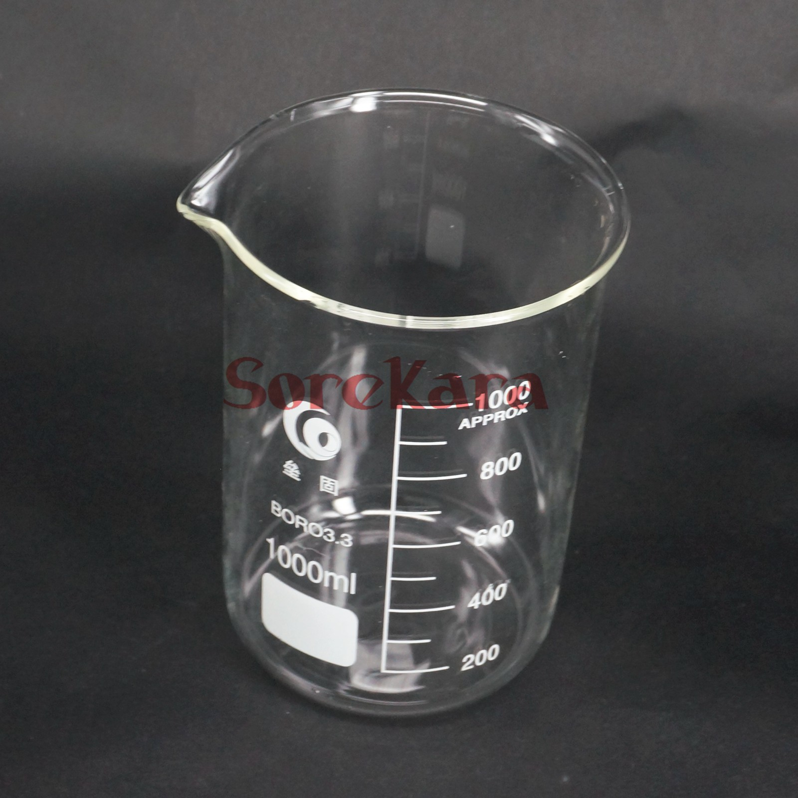 1000ml Low Form Beaker Chemistry Laboratory Borosilicate Glass Transparent Beaker Thickened With Spout