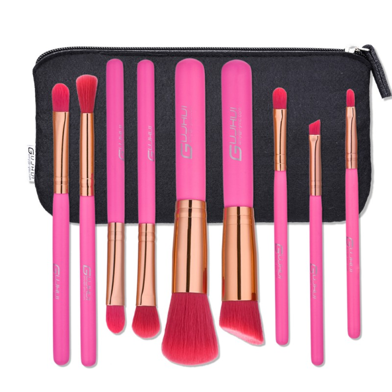 7pc Makeup Brush Set Dazzle Glitter New Colorful Pinceaux Maquillage Beautiful Powder Blush Eyeshadow Make Up Brushes with A Bag maange 12pcs professional makeup set powder eyeshadow palette highlight concealer pen makeup brush set with bag maquillage