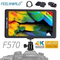 Feelworld F570 DSLR On Camera Field Monitor 5.7 IPS Full HD 1920x1080 4K HDMI Input for Sony Canon Nikon Etc Video Monitor