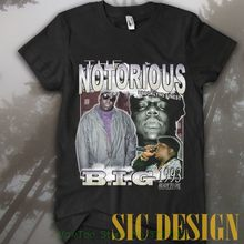 Rare Notorious B.i.g Source Vintage In Memory Rap Hip Hop T-shirt High  Quality Custom Printed Tops Hipster Tees T-shirt 9548265fc46