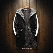 2019 Plus Cashmere Warm Large Size Men's Windbreaker Jackets male , Fashion Winter Wear Th