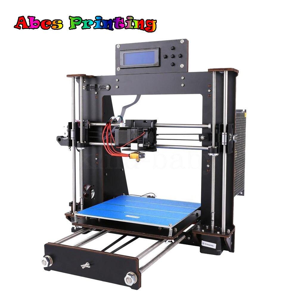 2018 NEW 3D Printer Prusa i3 Reprap MK8 DIY Kit MK2A Heatbed LCD Controller