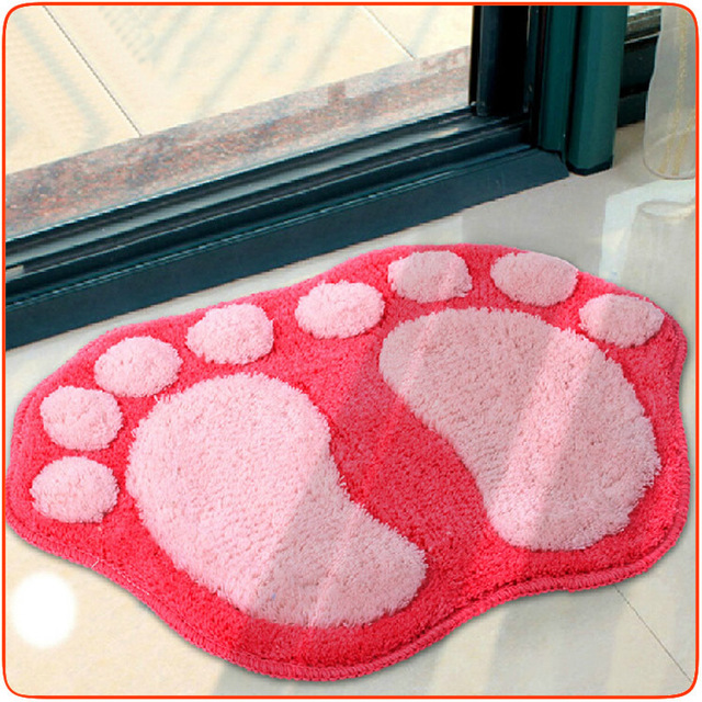 Hot Sales Footprint Mat Size 40*60cm Acrylic Doormats Kitchen Rugs ...