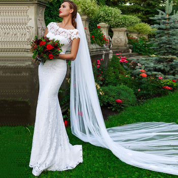 ADLN Sexy Scoop Sleeveless Wedding Dresses Mermaid Cheap Open Back Lace Wedding Gowns robe de soiree