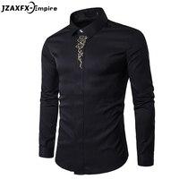 גברים הגעה חדשה שרוול ארוך חולצה מזדמן זכר חולצה עיצוב 6 צבעים מותג-masculina camisa בגדי גברים חולצה