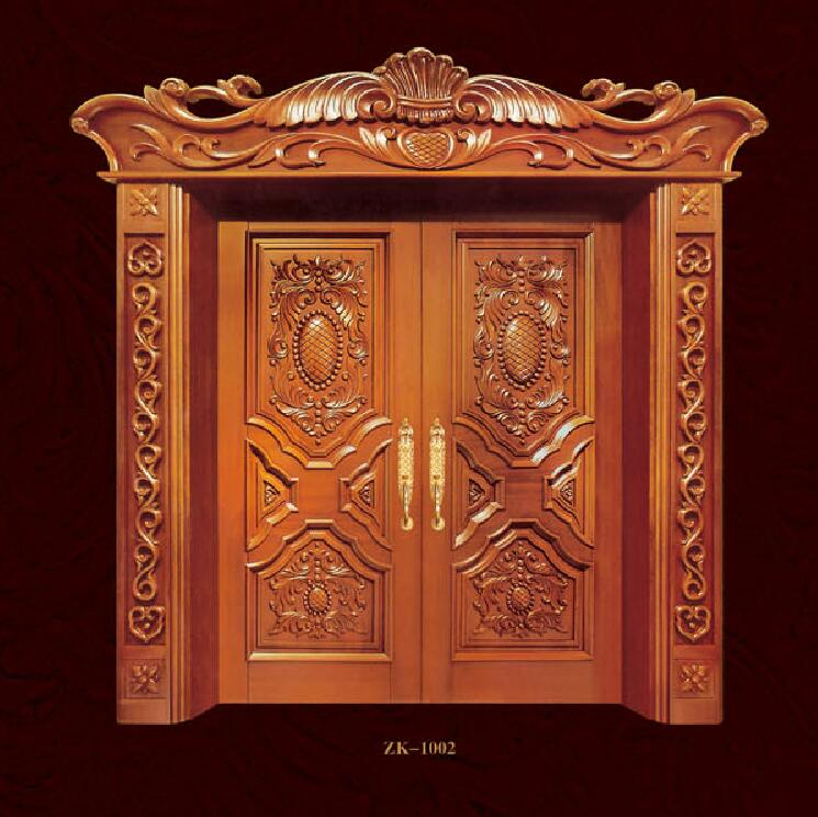 2019 High Quality Swing Doors Exterior And Interior Solid Wood Doors Antique Entry Doors