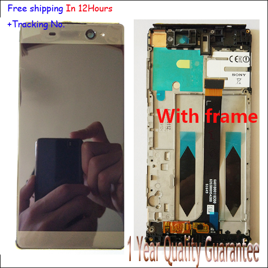 Original LCD Display+ Touch Screen Digitizer with frame For Sony Xperia C6 XA Ultra F3211 F3213 F3212 Test ok+Free Tracking No. original tested lcd screen for sony xperia c5 ultra lcd display with touch screen digitizer assembly free ship track