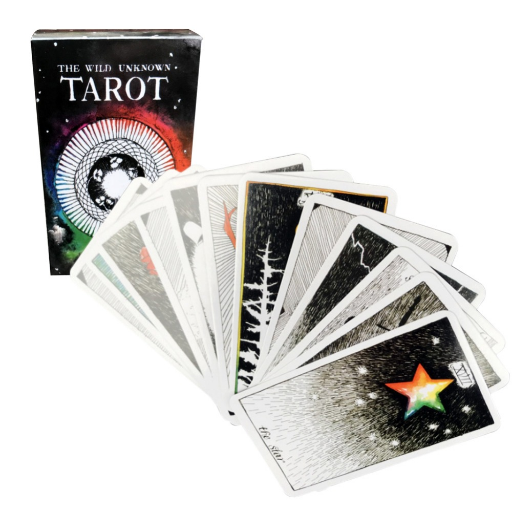 Wild Tatot  Game Mysterious Tarot Deck Cards  Magical Wild Animal Tarot Cards 78 Cards/set