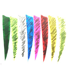 50pcs 4 Shield Cut Vanes Shape Fletching Feathers Archery Hunting  Shooting Arrow Feather Real Turkey Feather Arrow Camouflage 50pcs high quality 3inch feath shield cut vanes turkey feather violet arrow real feather arrow feathers vanes bow arrow