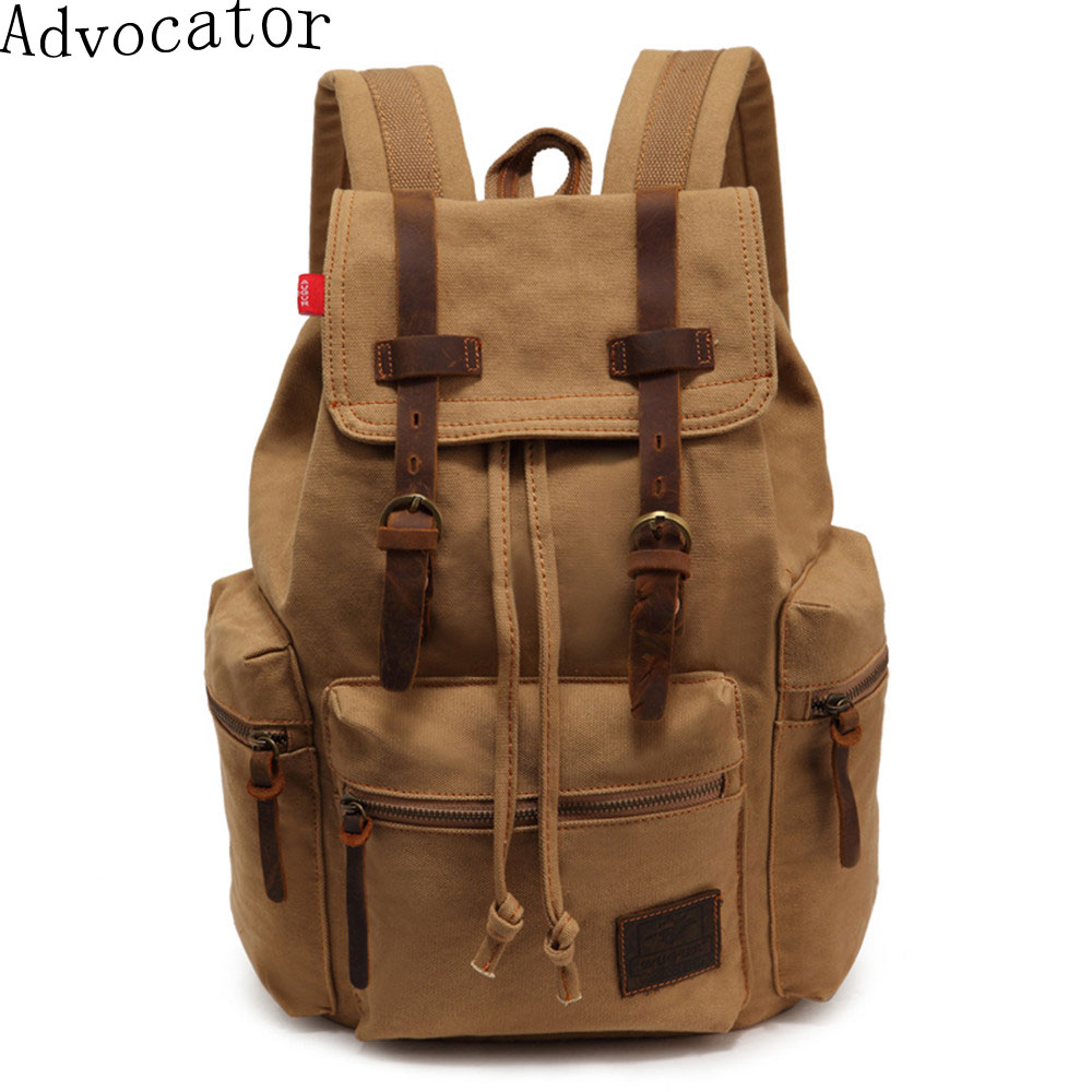 Augur Vintage Canvas Women Backpack Army Style Notebook ...