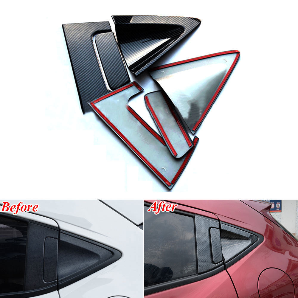 6pcs Fit For 2014-2017 Honda HR-V HRV Vezel ABS Rear Door Handle Bowl Cover Trim Carbon Fiber Color Decorative Accessories