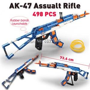 Image 5 - Cada la técnica de bloques de construcción pistola de juguete para niños, modelo de pistola de juguete, 98k, piezas, juguetes educativos para niños, ww2