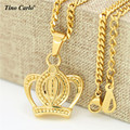 Tino Carlo Micro Imperial Crown Charm Women Necklace Snake Chain Hiphop Vintage Royal Crown Girl's Necklace