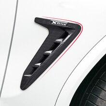 סיבי פחמן רכב אוויר Vent כיסוי מדבקה עבור BMW E53 X5 X4 X3 F15 X5 F85 X סדרת פחמן כריש זימי קדמי פגוש צד מדבקה