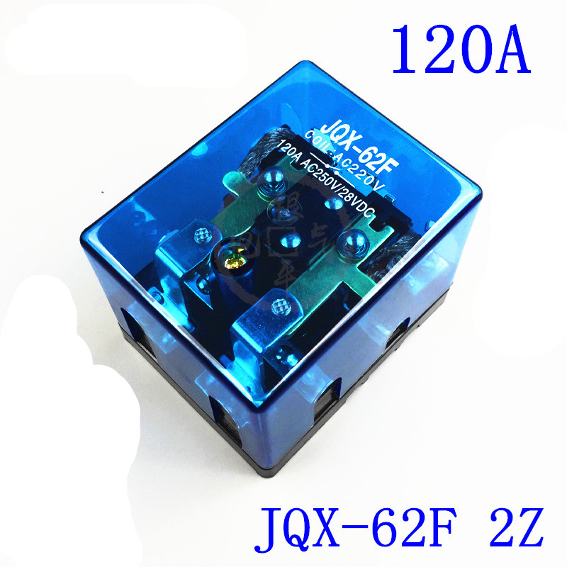 12VDC 24VDC 110VAC 220VAC 120A DPDT Power Electromagnetic Relay Motor Control Screw Mount JQX-62F-2Z 2NO 2NC jqx 62f 120a coil high power relay ac 220v