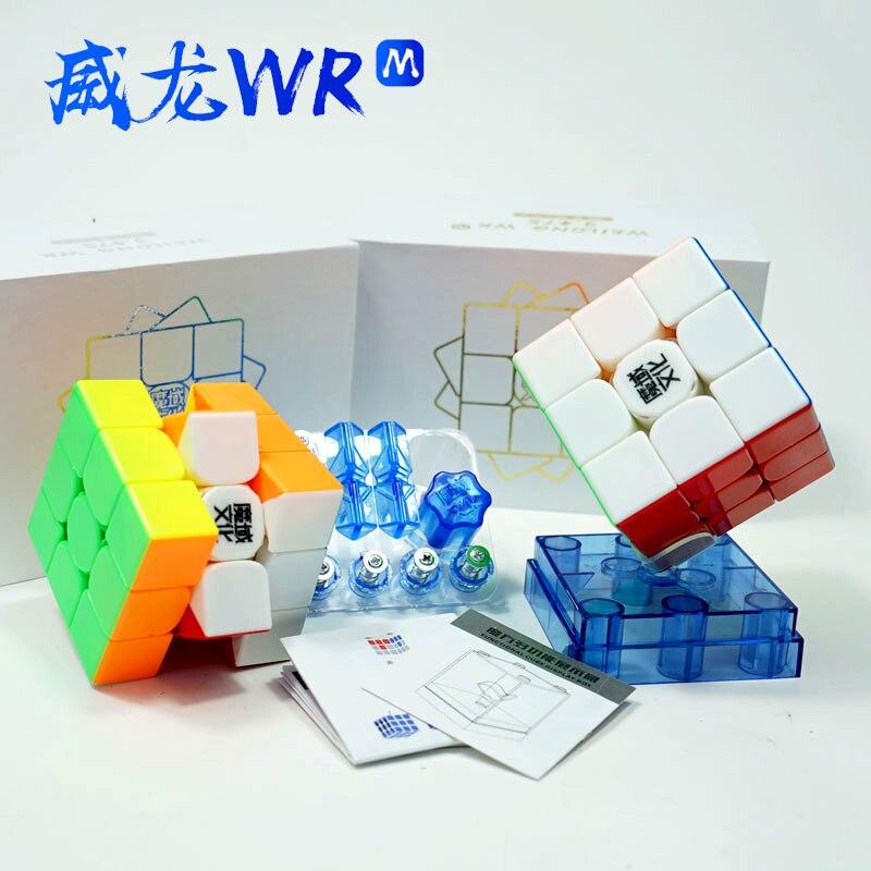 MoYu Weilong Wr M 3x3x3 Cube magique magnétique Puzzle professionnel 3x3 aimants sans colle Cube de vitesse jouets pour enfants