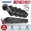 Annke 4ch hd lite de tvi 1080 p sistema de seguridad de vídeo dvr y (4) 720 P Al Aire Libre Fija Resistente A La Intemperie Cámaras de Vigilancia CCTV 1 TB HDD