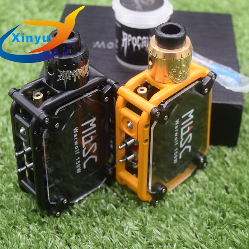 Original sub two warwolf kit with Apocalypse GEN 25 RDA Instant large output 3500mAh battery 150w e cigarette Laser vape box mo