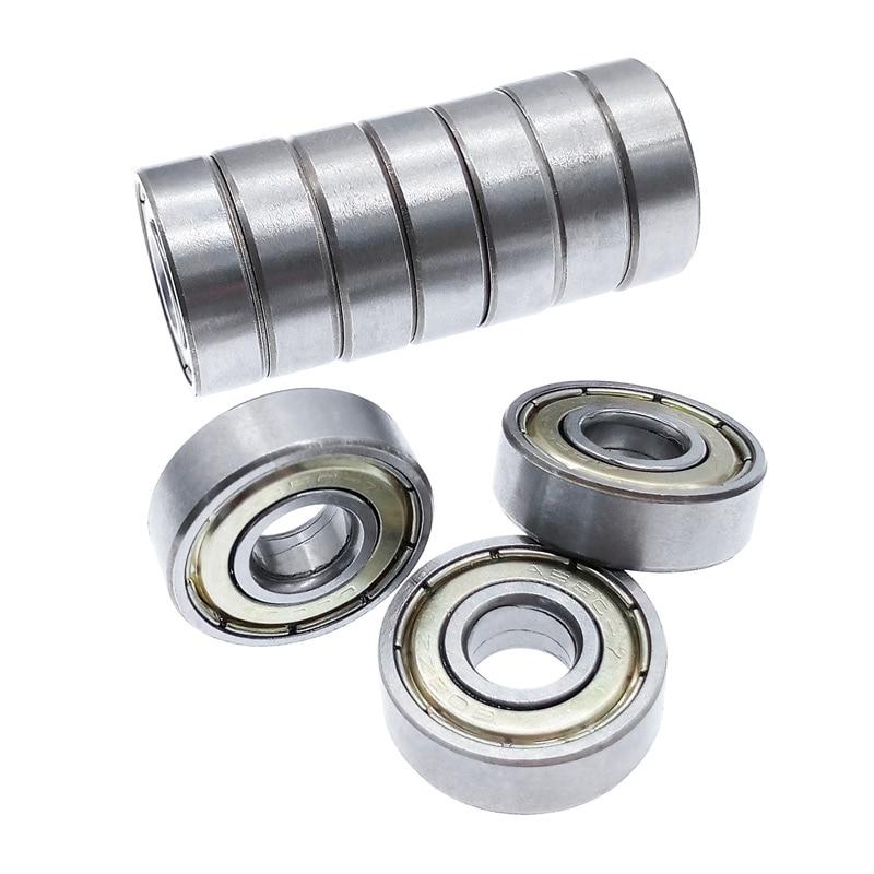 10pcs Ball Bearing 608ZZ Double Shielded Miniature Carbon Steel Single Row Deep Groove 608 For Fidget Spinner 8*22*7mm