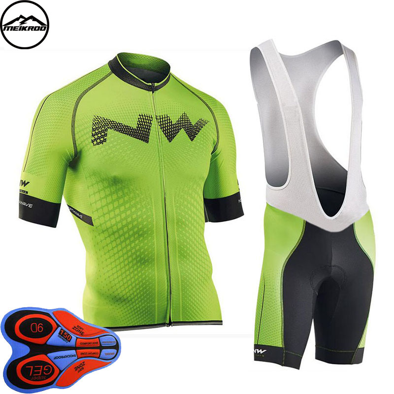 2018 NEW! NW Cycling Jersey Short Jersey Ropa De Ciclismo Maillot Cycling Clothes Set Bike Wear Gel Pad Breathable