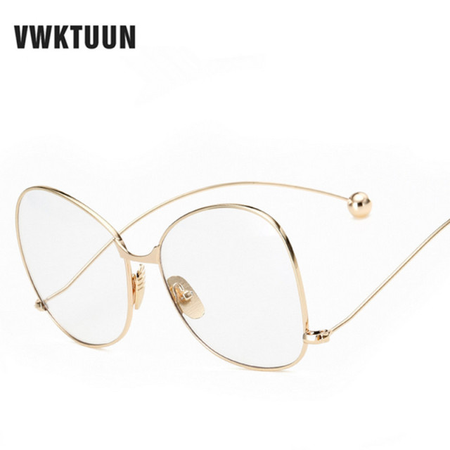 VWKTUUN Vintage Decoration Round Eyeglasses Frame Retro Glasses Women Men  Glasses Frame Optical Frame Glasses Oculos Femininos 55041b7c04