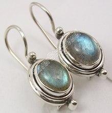 Chanti International Silver лунный камень, лазурит, жемчуг и Другое выбор драгоценного камня изменение Серьги изменение