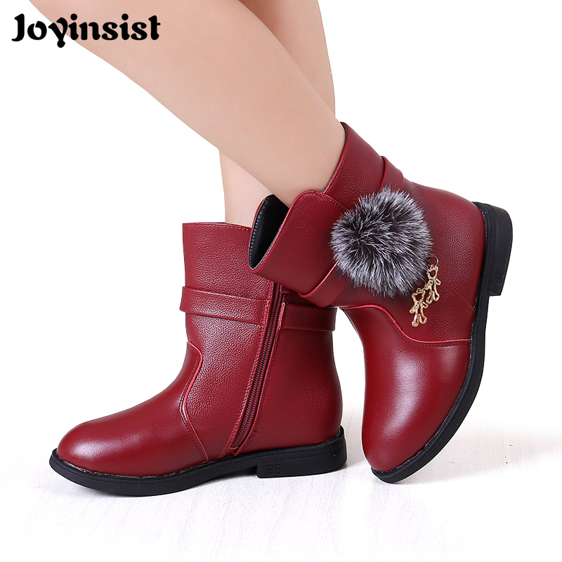Girl's Boots In Autumn Winter 2019 New Han Edition Princess Girl Add Wool Cotton Boots Children Shoes
